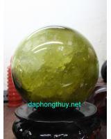 Phong thủy quả cầu thạch anh vàng VC17.5