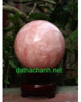 Quả cầu thạch anh hồng phong thủy HC0013