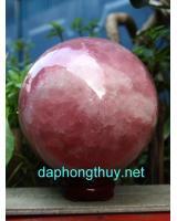 Quả cầu thạch anh hồng phong thủy HC0014