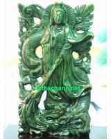 Tượng Phật Quan Âm Ngọc Bích NBP45