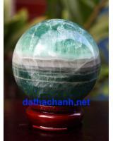 Phong thủy quả cầu ngọc lục bảo fluorit XC8