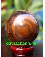Quả cầu thạch anh mắt hổ phong thủy MH6.4