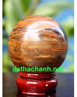 Quả cầu thạch anh mắt hổ phong thủy MH6.3a