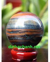 Quả cầu thạch anh mắt hổ phong thủy MH6.2a