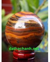 Quả cầu thạch anh mắt hổ phong thủy MH9.5