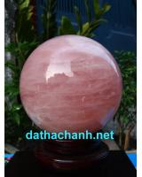 Quả cầu thạch anh hồng phong thủy tuyệt đẹp HC18.5
