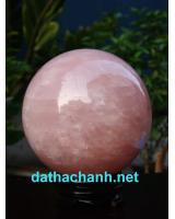 Quả cầu thạch anh hồng phong thủy HC12