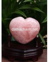 Trái tim thạch anh hồng HTIM5