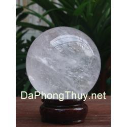 Quả cầu thạch anh trắng phong thủy TRC07.3b