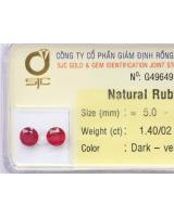 Bông tai đá quý ruby RBB1.4