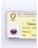 viên đá garnet ngọc hồng lựu GARNET1.85