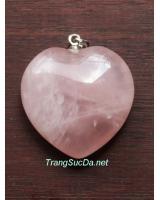 Mặt đeo trái tim thạch anh hồng timhong4