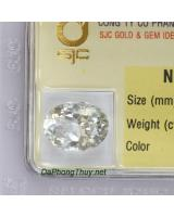 Viên đá phong thuỷ topaz trắng paz7.25