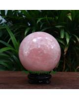 Quả cầu thạch anh hồng thiên nhiên HC10.5