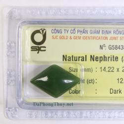 Viên đá ngọc bích nephrite DNBKD12.2