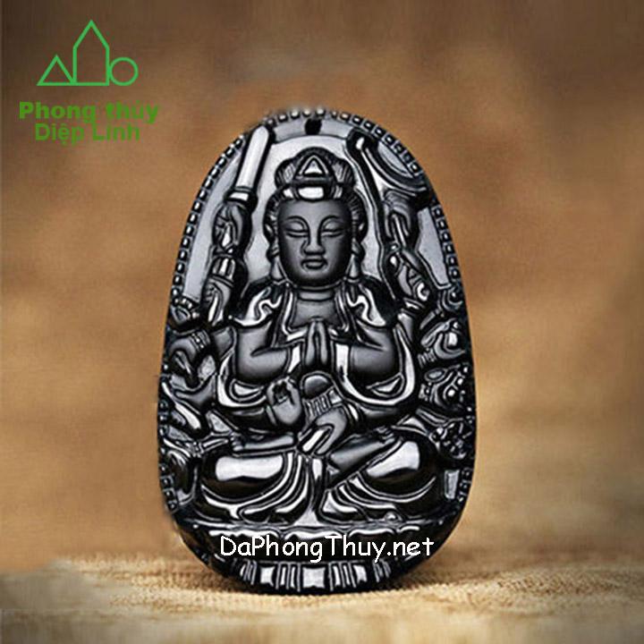 Phật Bản Mệnh Thiên Thủ Thiên Nhãn Núi Lửa Obsidian