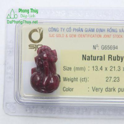 Tỳ Hưu Đá Ruby RBTH27.23