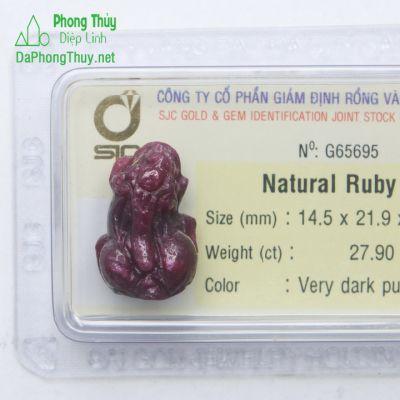 Tỳ Hưu Đá Ruby RBTH27.90