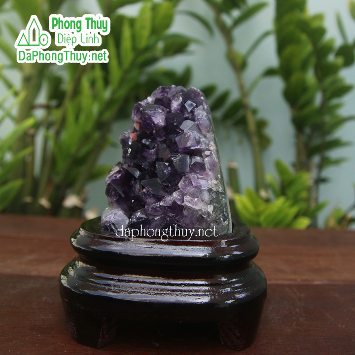 Khối đá phong thủy thạch anh tím T11A