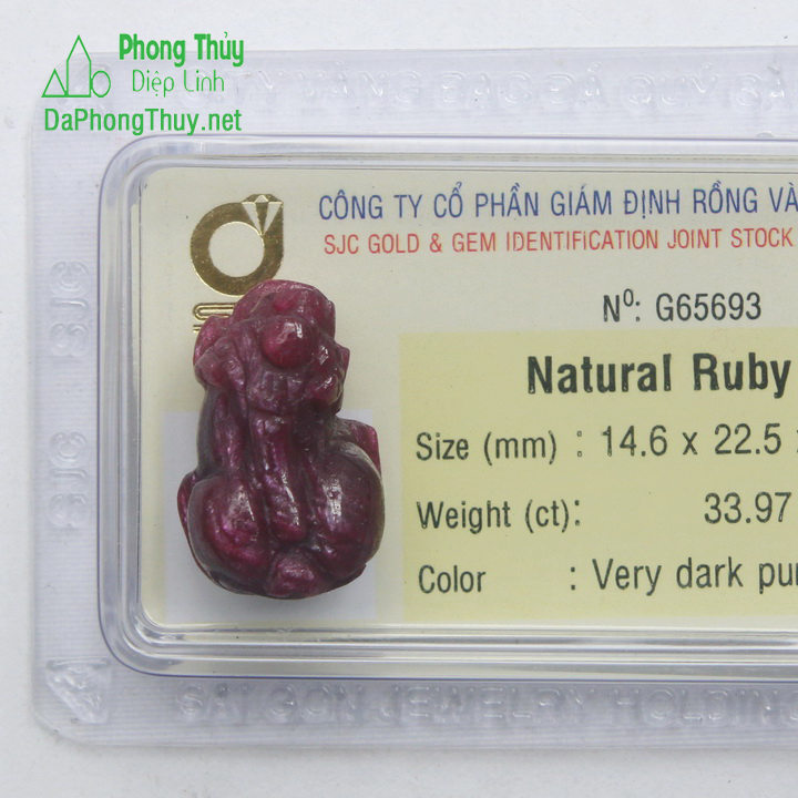 Tỳ Hưu Đá Ruby RBTH33.97