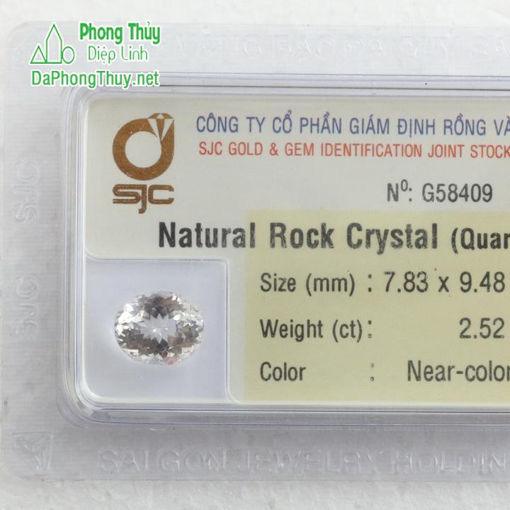Viên đá kiểm định thạch anh trắng TAT2.52