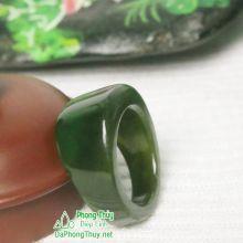 Nhẫn ngọc bích nephrite jade NBNK7-18.5