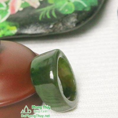Nhẫn ngọc bích nephrite jade NBNK16-18.5