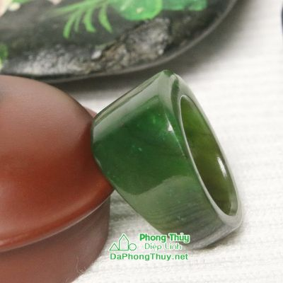 Nhẫn ngọc bích nephrite jade NBNK21-18.5