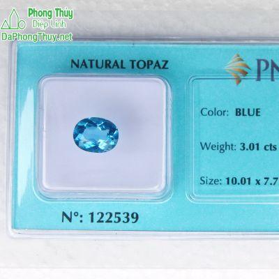 Viên đá topaz xanh hoàng ngọc PAZ3.01