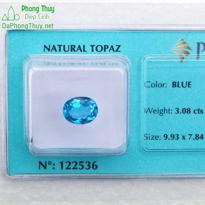 Viên đá topaz xanh hoàng ngọc PAZ3.08