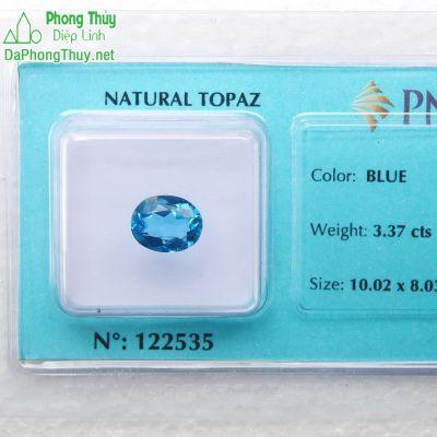 Viên đá topaz xanh hoàng ngọc PAZ3.37