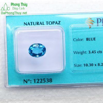 Viên đá topaz xanh hoàng ngọc PAZ3.45