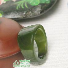 Nhẫn ngọc bích nephrite jade NBN13K-18.2