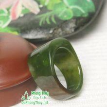 Nhẫn ngọc bích nephrite jade NBNK11-18.5