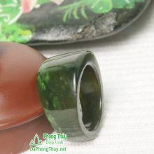 Nhẫn ngọc bích nephrite jade NBNK12-18.5