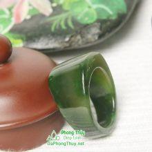 Nhẫn ngọc bích nephrite jade NBNK14-18.2