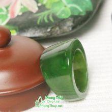 Nhẫn ngọc bích nephrite jade NBNK15-18.7