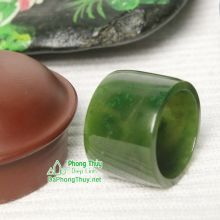 Nhẫn ngọc bích nephrite jade NBNK18-19.5