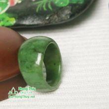 Nhẫn ngọc bích nephrite jade NBNK19-18.2