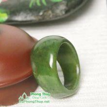 Nhẫn ngọc bích nephrite jade NBNK22-18.2