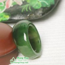 Nhẫn ngọc bích nephrite jade NBNK23-20