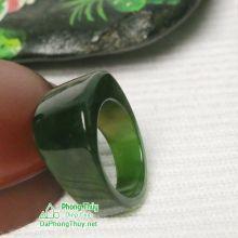 Nhẫn ngọc bích nephrite jade NBNK20-18.5