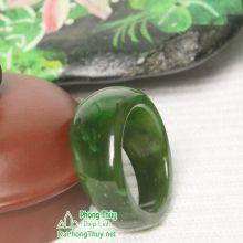 Nhẫn ngọc bích nephrite jade NBNK4-18.6