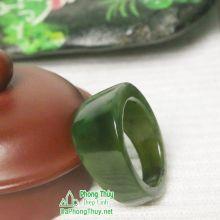 Nhẫn ngọc bích nephrite jade NBNK5-18.2