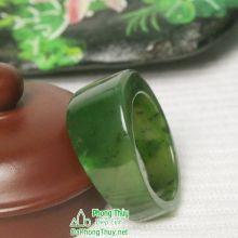 Nhẫn ngọc bích nephrite jade NBNK6-22,5