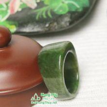 Nhẫn ngọc bích nephrite jade NBNK17-18.5