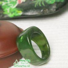 Nhẫn ngọc bích nephrite jade NBNK8-18.6
