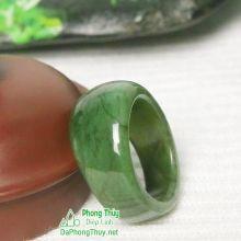 Nhẫn ngọc bích nephrite jade NBNK9-18.5