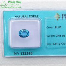 Viên đá topaz xanh hoàng ngọc PAZ2.61