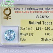 Viên đá topaz xanh hoàng ngọc PAZ4.65